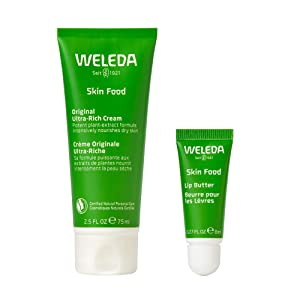 Weleda Skin Food Winter Savior Collection, 2.5oz Ultra Hydrating Cream and 0.27oz Lip Butter