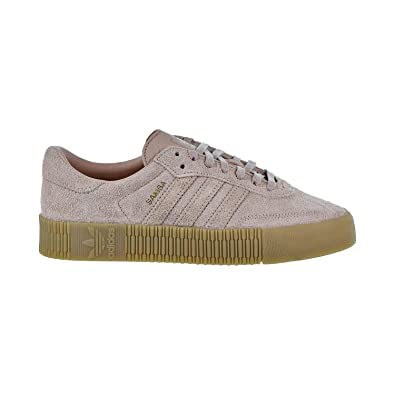 ea8f0707bbf48 Amazon.com | adidas Samba Rose Women's Shoes Ash Pearl/Ash Pearl/Gum ...