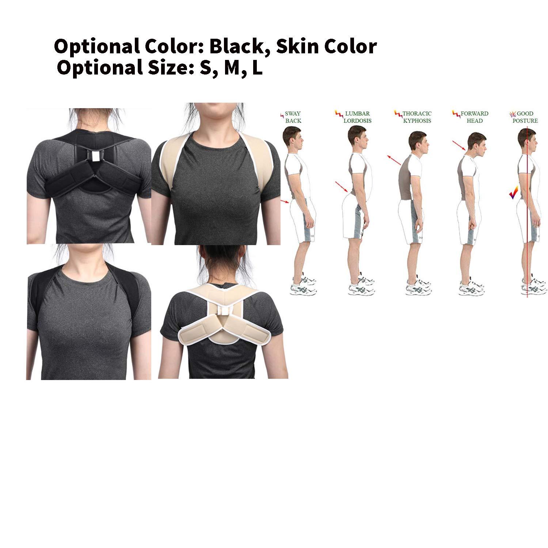 7a1a79ec5d0 Amazon.com: Adjustable Upper Back Shoulder Support Posture Corrector ...