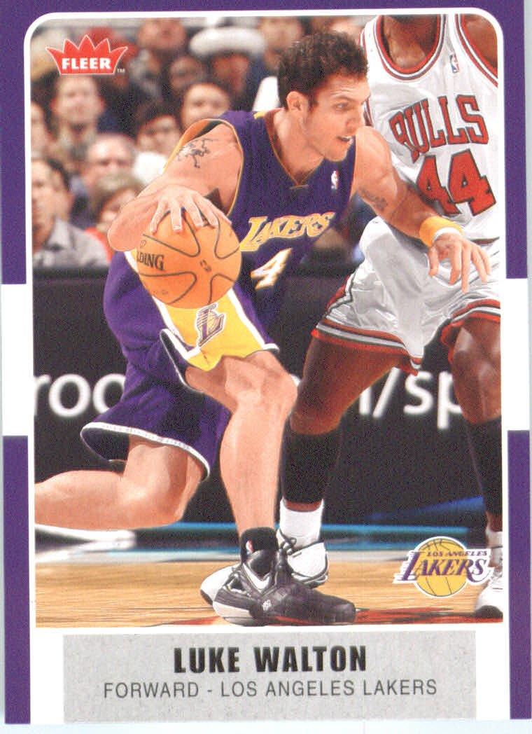 Fleer 2007/08 NBA Tarjeta de baloncesto #157 Luke Walton Lakers ...