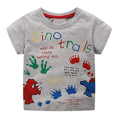 3568eab56 Mealeaf ❤ Children Kids Baby Girls Boys Cartoon Print T-Shirt Tee