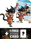 "Son Goku: ~2.9"" Dragon Ball Styling x Bandai Shokugan Figure + 1 FREE Official DragonBall Trading Card Bundle"