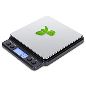 VOVOLY Food Digital Kitchen Scale for Backing and Cooking, 3000g/0.1g/0.01oz, Small Pocket Scales for Postage, Package and Shipping, Precision Scale (0.1g) Weigh Grams and Ounces, Batteries Included