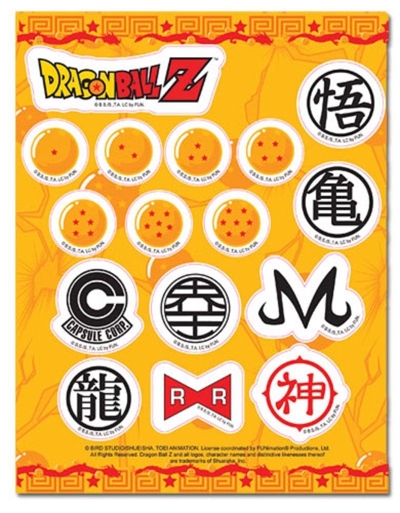 Amazon Dragon Ball Z Sticker Symbol Sticker Set