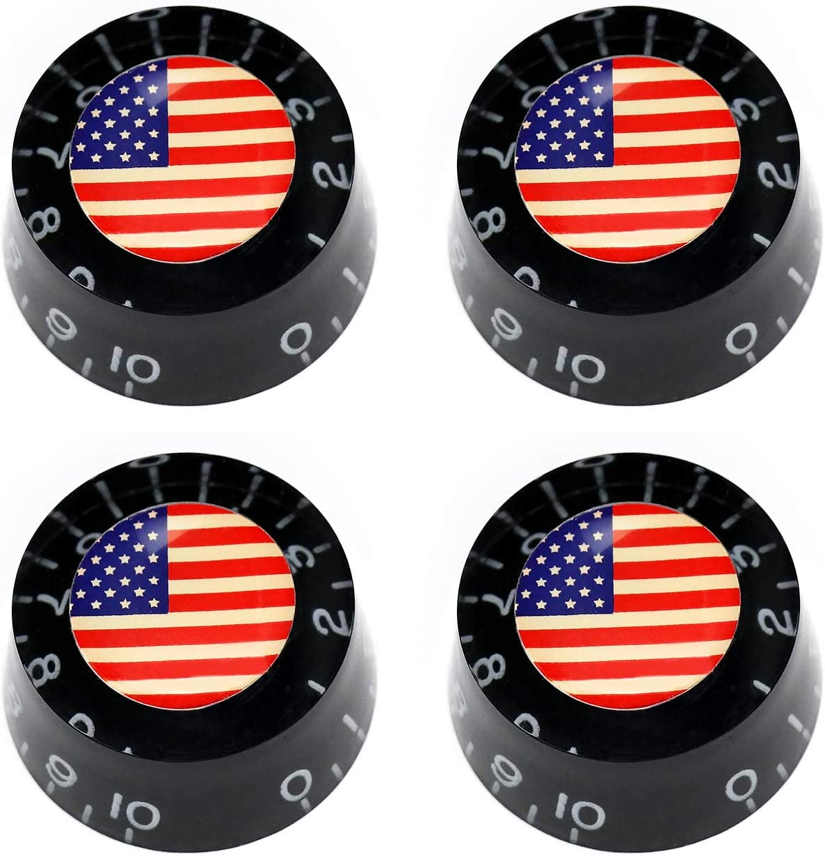 Metallor Electric Guitar Top Hat Knobs Speed Volume Tone Control Knobs Compatible with Les Paul LP Style Electric Guitar Parts Replacement Set of 4Pcs.