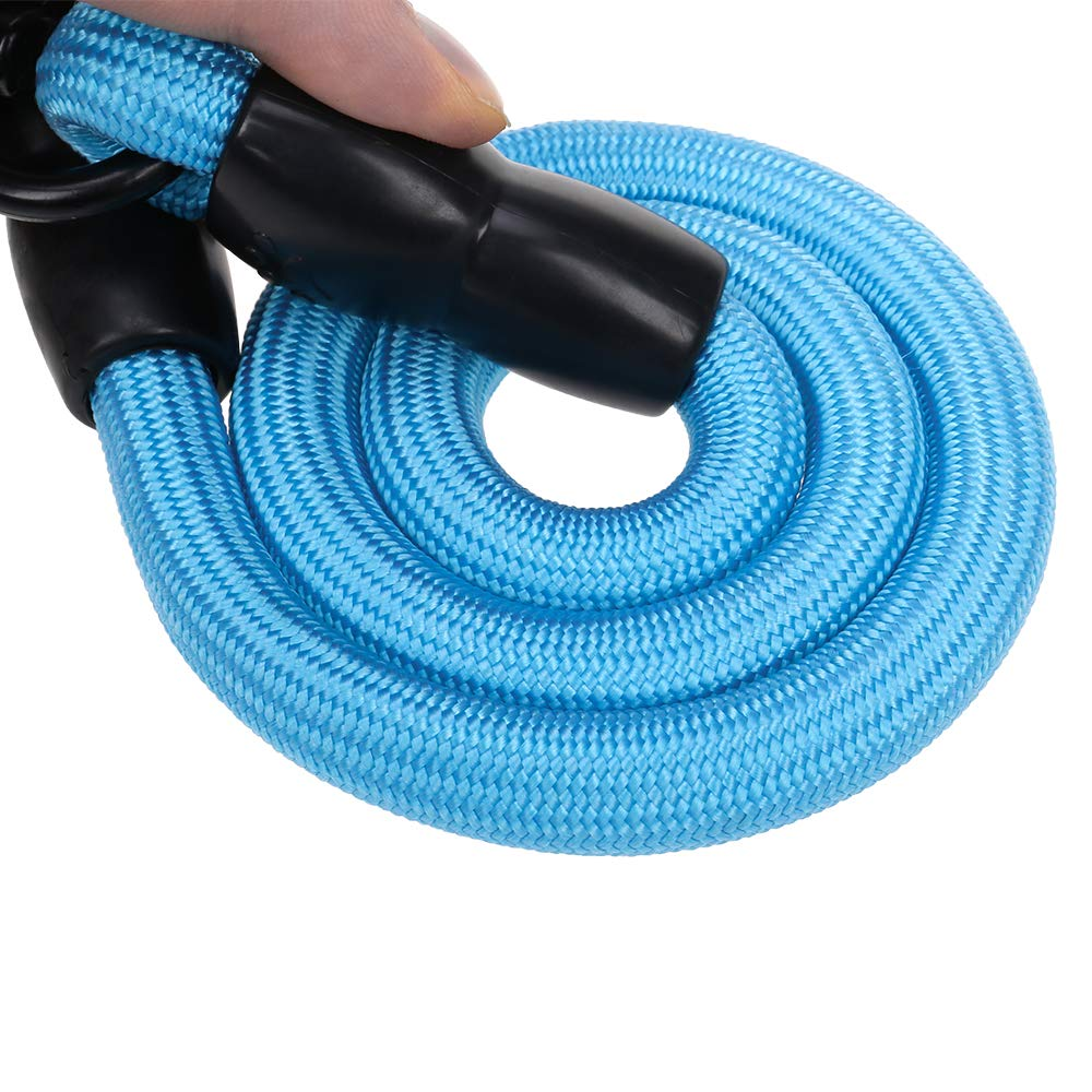 KUMAU Double Dog Coupler Dual Leash 2 Dog Lead 1.5M and Splitter with Swivel and Padded Handle for Walking Training 2 Dogs No Tangle,Blue