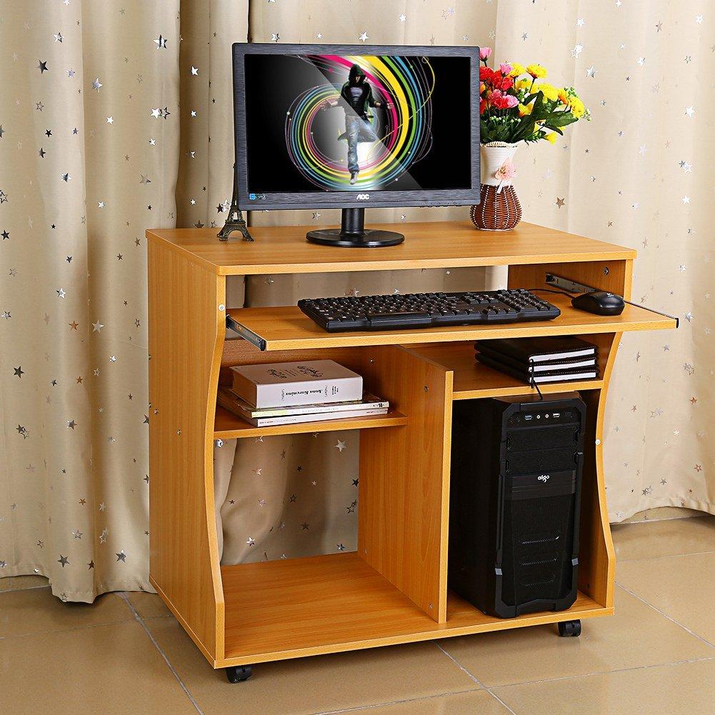 Escritorio para el hogar Oficina Mesa de Trabajo de Madera y Metal Esquina Escritorio Moderno para Ordenador Tablero DM Ordenador