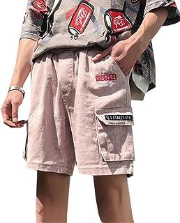 Fensajomon Mens Rugged Casual Loose Summer Mid Rise Multi Pockets Cargo Shorts
