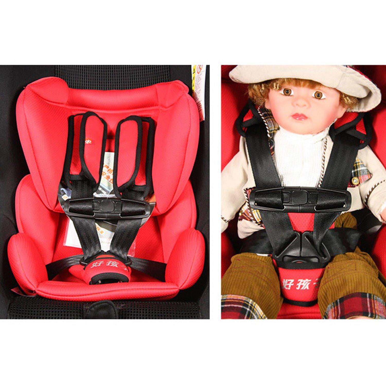 per Sicurezza dei Bambini Nero 2Pcs Universale Seggiolino Auto Fibbia Sicurezza Parte Clip per Petto del Bambino
