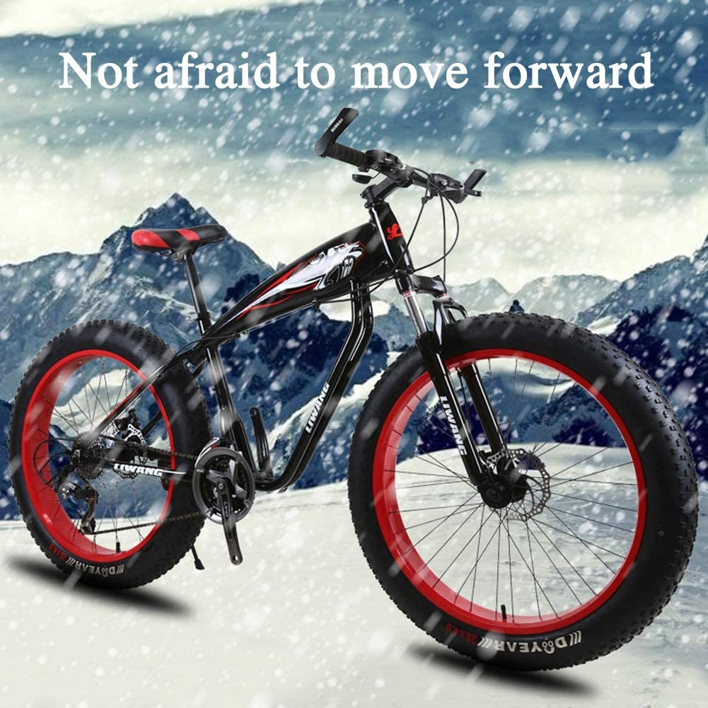 TBAN Moto De Nieve, Bicicleta De Montaña, Llanta Ancha, Freno De Disco, Bicicleta De Estudiante con Amortiguador, Ruleta Seleccionada,24inch24speed: Amazon.es: Deportes y aire libre