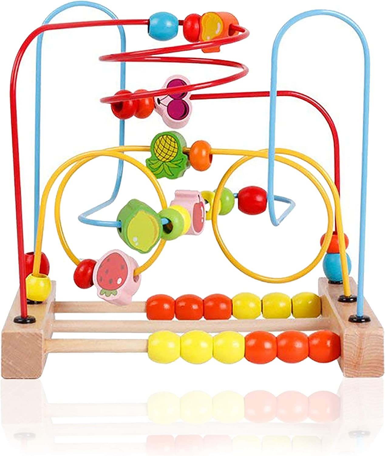 KIDDERY TOYS Bead Maze Educational Toy for Toddlers & Kids Bead Roller Coaster & Number Counting Toy with Bright Colors (Medium Size)