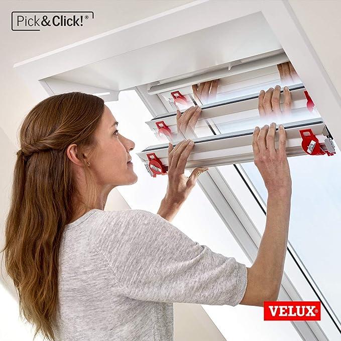 Velux Original Verdunkelungsrollo Für Dachfenster Mk06 Uni Grau
