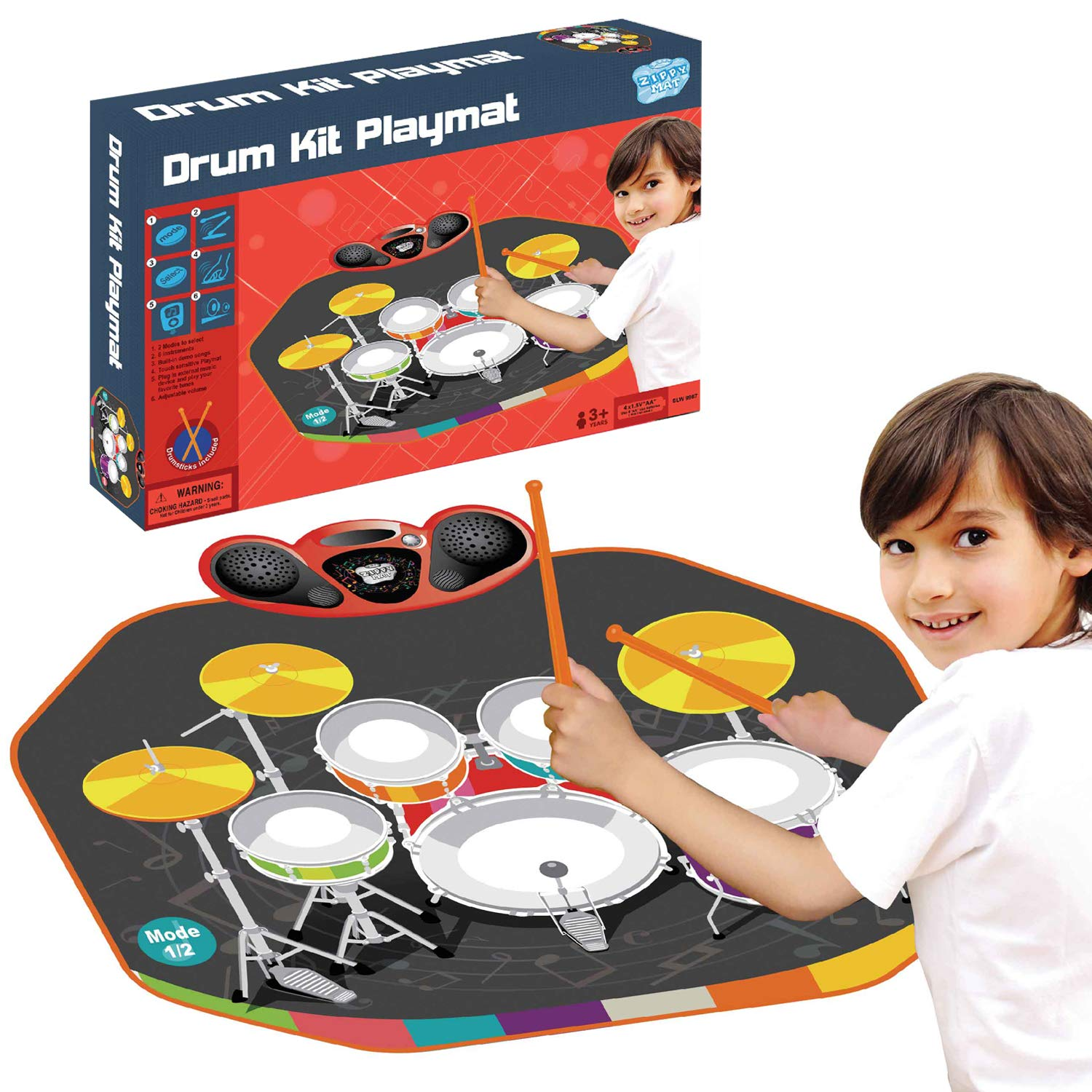 Denny International Kids Musical Electronic Drum Kit Stick Touch