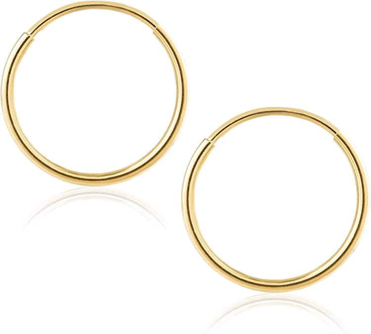 Details about  /14k Yellow Gold 2.8 Inches Extra Large Endless Hoop Earrings 1.5 MM  2.8 Grams
