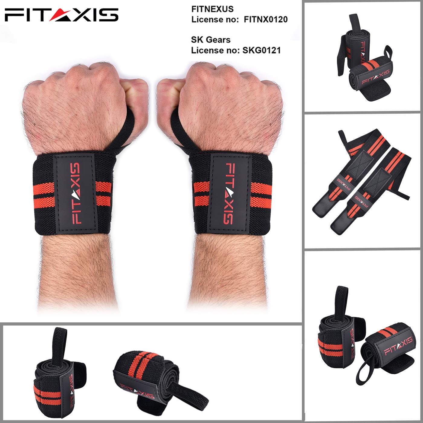 FITAXIS Muñequeras | Wrist Wraps/Bands for Gimnasio Fitness ...