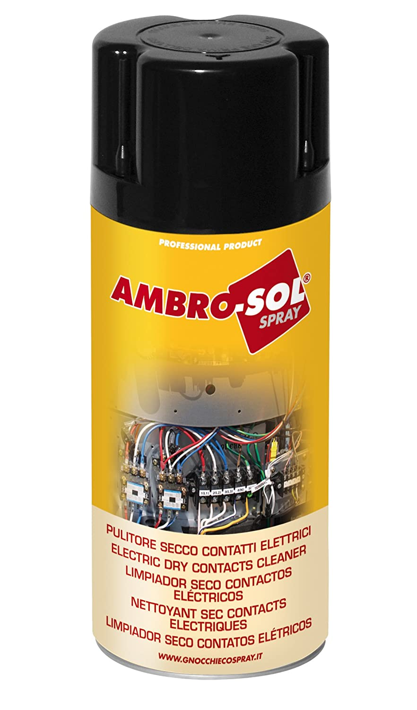 Ambro-Sol M200 Limpiador Seco Contactos Elé ctricos, Transparente, 400 Ml