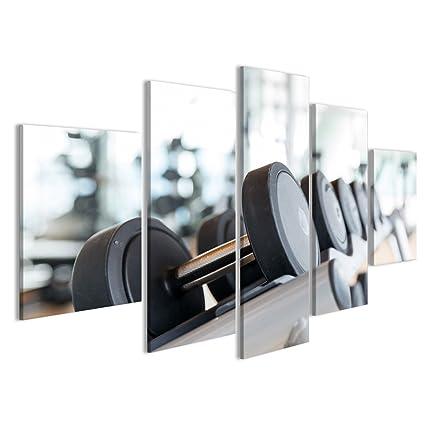 Quadro moderno Sport Concetto, forma fisica, elevación de peso y de salud – Vicino