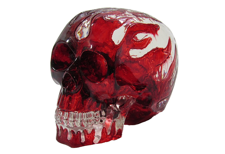 Clear Flame Skull Head Shift Knob / Decor Kool Collectibles