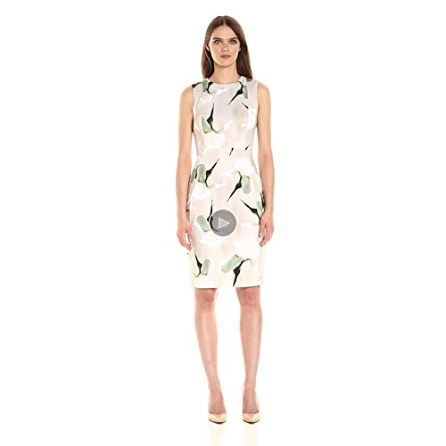 Calvin Klein Women's Flocked Fabric Sheath Dress