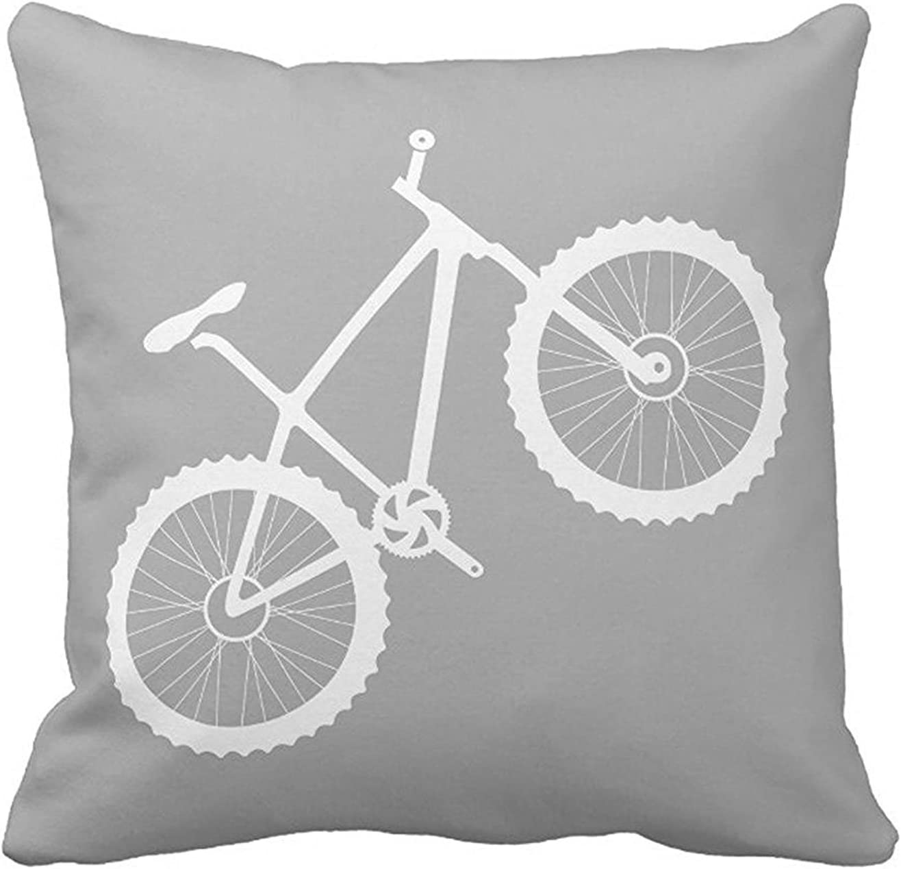 Custom home decorativo blanco bicicleta en gris manta funda de ...