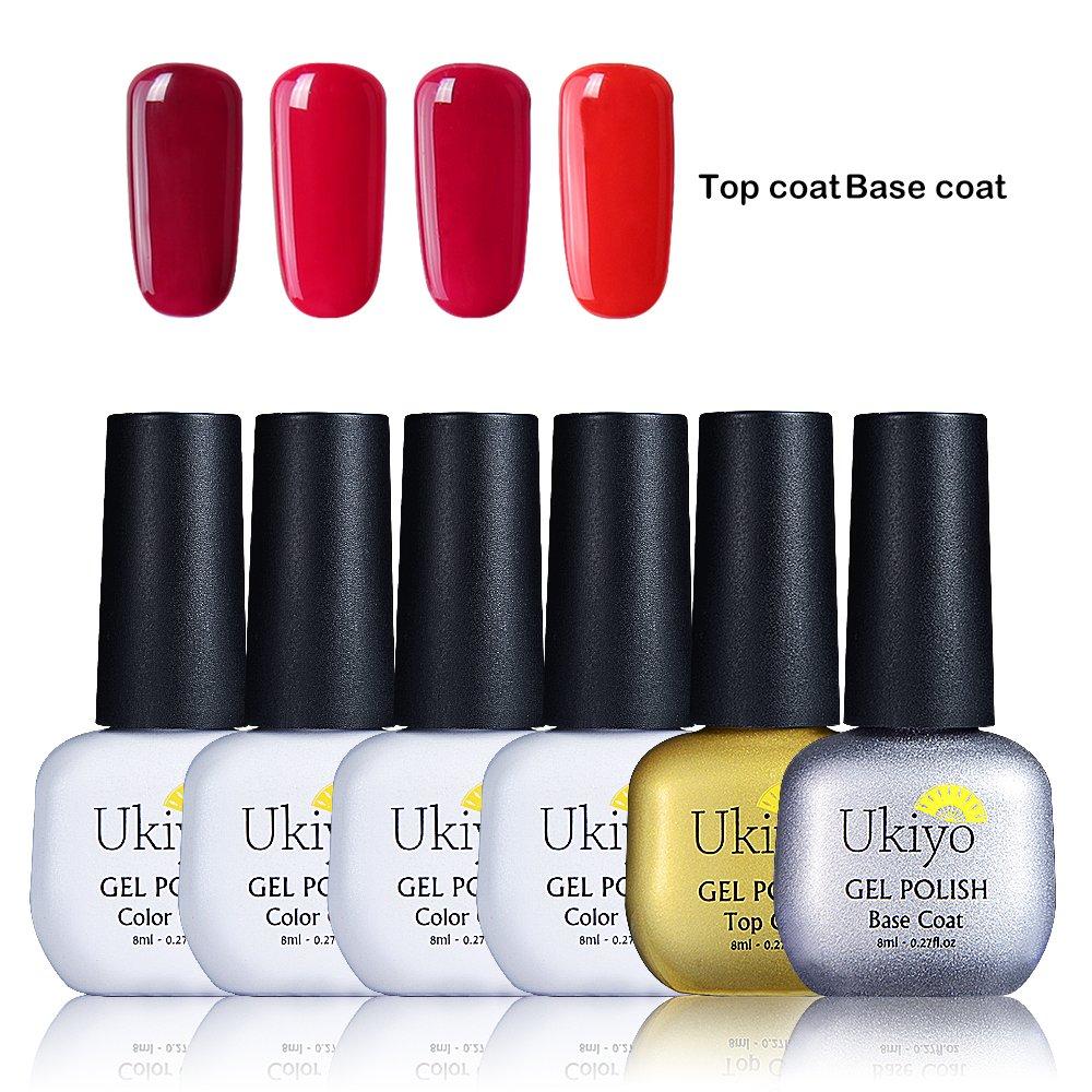 Ukiyo Borgoña Gel de esmalte Kit de Esmaltes de Uñas Gel UV LED UV LED de colores, serie High Gloss, 6unidades 6PCS-1 … 6unidades 6PCS-1 ... Generic
