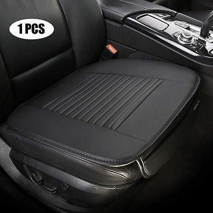 edealyn pu leather car seat cushion auto seat covers single driver seat cover for all sedan,1 pcs (black b)