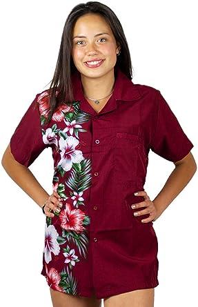 Original King Kameha | Funky Blusa Hawaiana Mujeres | XS-6XL | Manga Corta Bolsillo Delantero| impresión De Hawaii | Wedding: Amazon.es: Ropa y accesorios