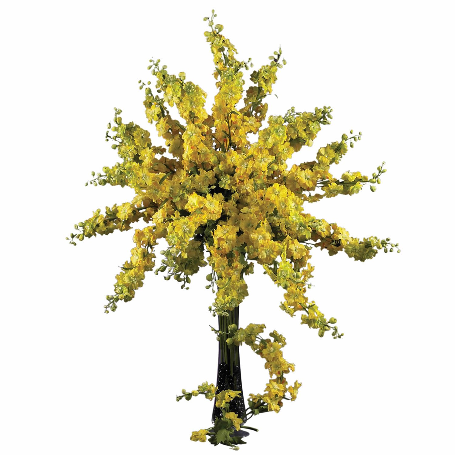 38.5-Inch Nearly Natural 2128-YL Delphinium Decorative Stem Yellow