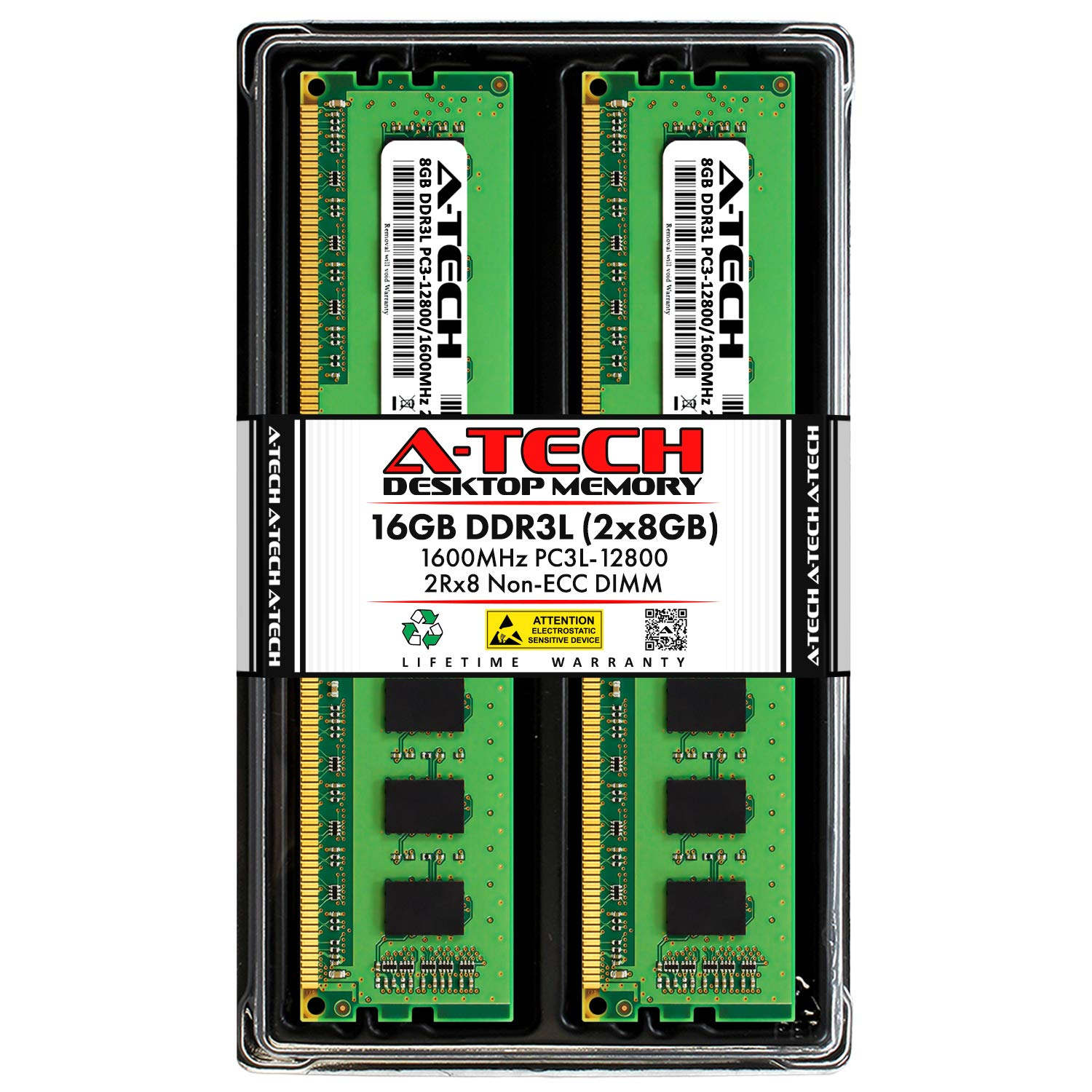 Memoria Ram 16GB (2X8GB) DDR3 1600MHZ PC3-12800 A-TECH