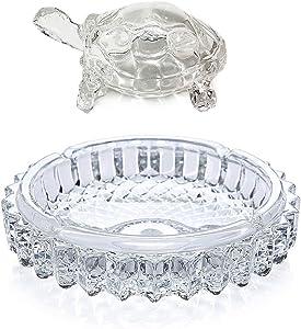 Crystal Glass Turtle-Tortoise for Feng Shui and Vastu with Pond Pot/Vastu/Feng Shui Glass Crystal Turtle Tortoise Showpiece Gift