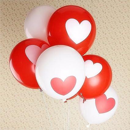 GEZICHTA 10 piezas 12 pulgadas romántico látex amor confeti globo corazón flotador hinchable bolas de aire