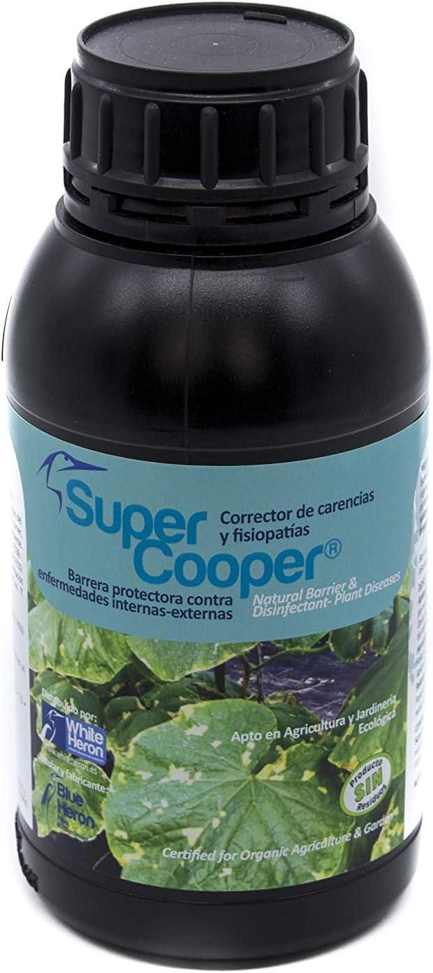 Pack SUPERCOOPER+Iridium® (1.250 m2). Perfil Fungicidas bioracional-Hongos/Oidio/Enfermedades; Fito-Fortificantes-Protector Natural-minimiza Enfermedades internas y Algunos Hongos externos.