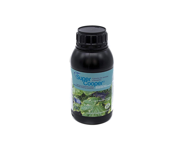 SUPERCOOPER®. Bio Fungicida- Hongos/ Fortificante-Protector natural -enfermedades plantas- internas-externas (1.000 m2)