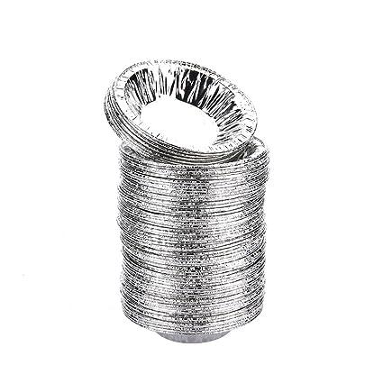 "Desechables 3 ""aluminio Foil ovulo sacatestigos Tins molde pastel sartenes herramientas para hornear,"