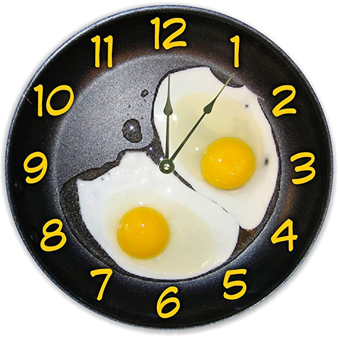 Black And Yellow Sunny Side Up Clock