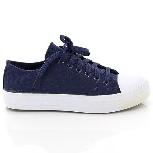 Netgozio Scarpe da Ginnastica Donna Sneakers Basse Casual Comode Tela Ecopelle Strass hC7KM7V6Lz
