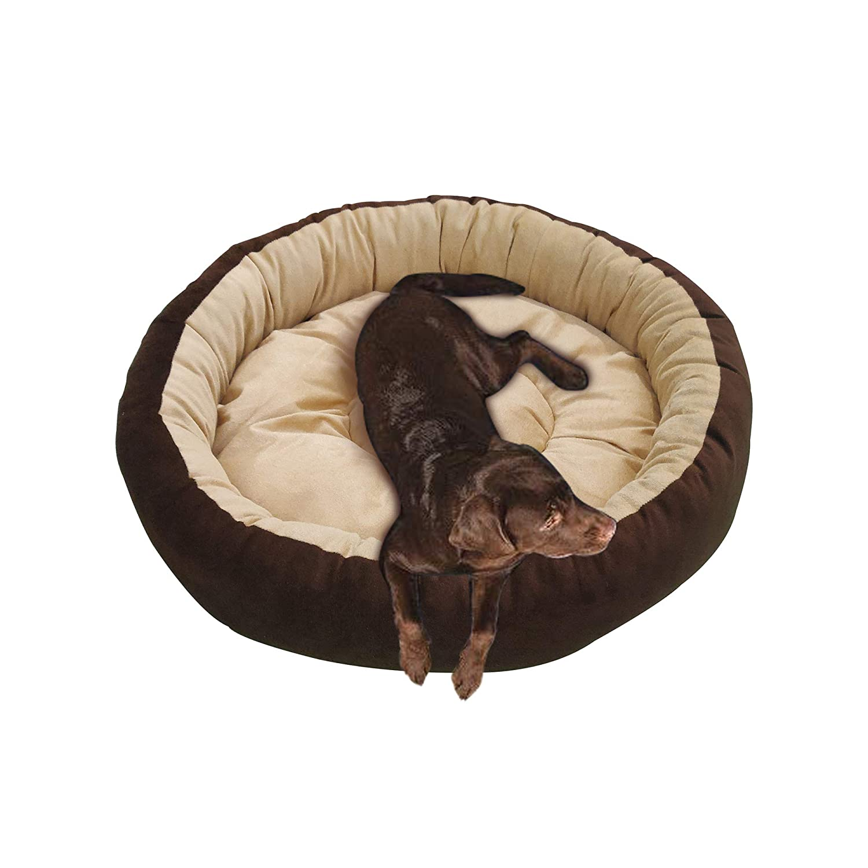 Mellifluous Reversible Super Soft Velvet Round Cat Dog Pet Bed