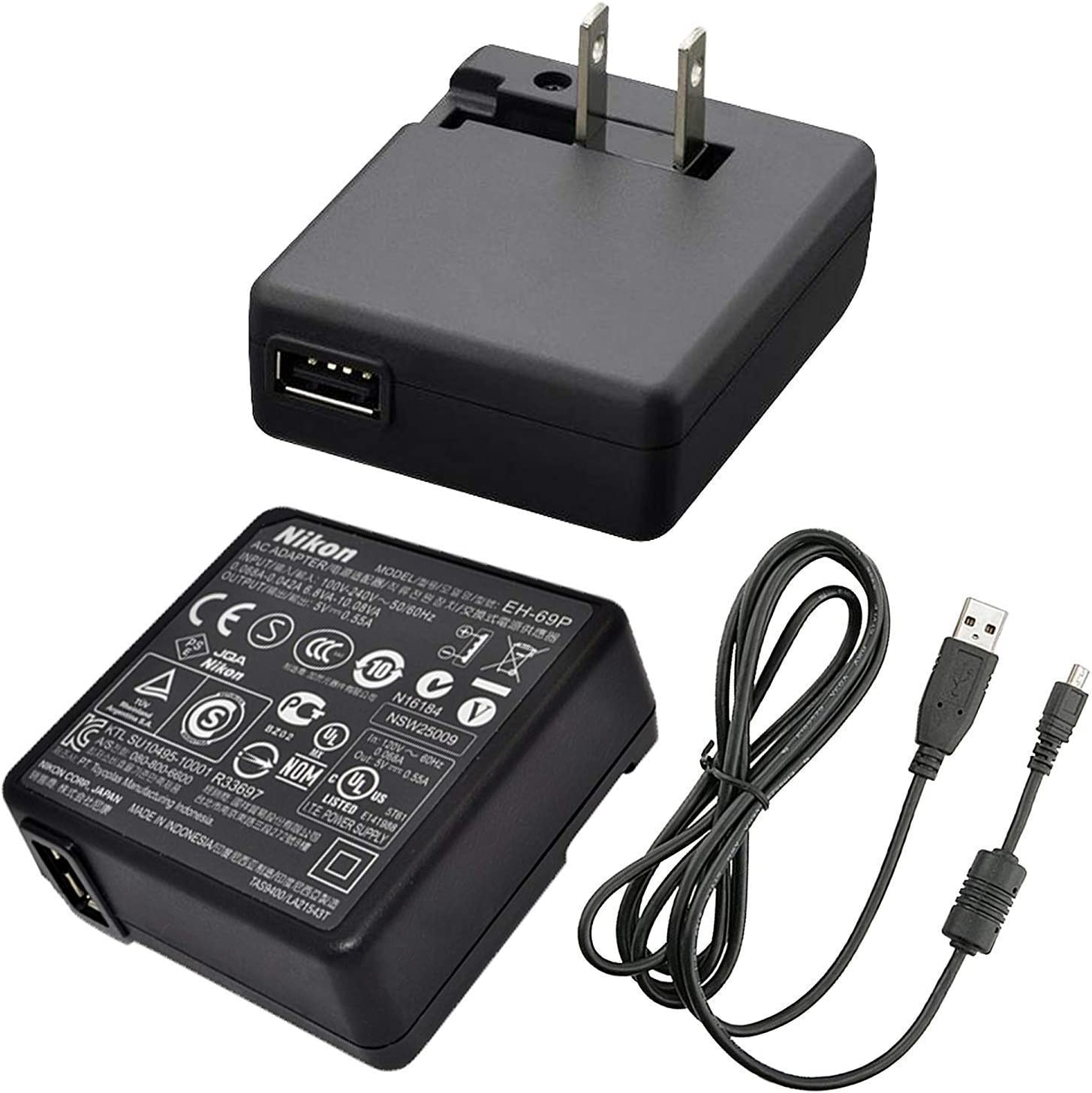 Nikon EH-71P AC Power Supply Adapter Charger for CoolPix S6800 and S5300 Digital Cameras