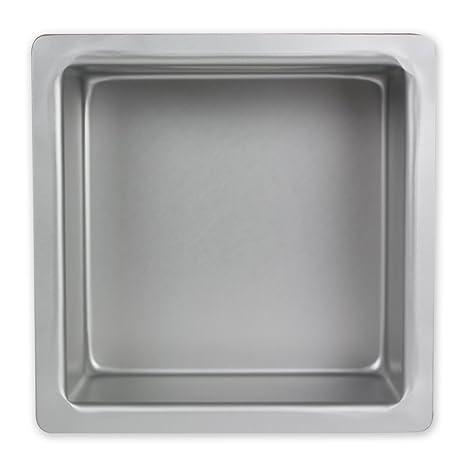PME Molde para Pasteles Cuadrado de Aluminio Anodizado Profundidad de 4 x 4 x 3-