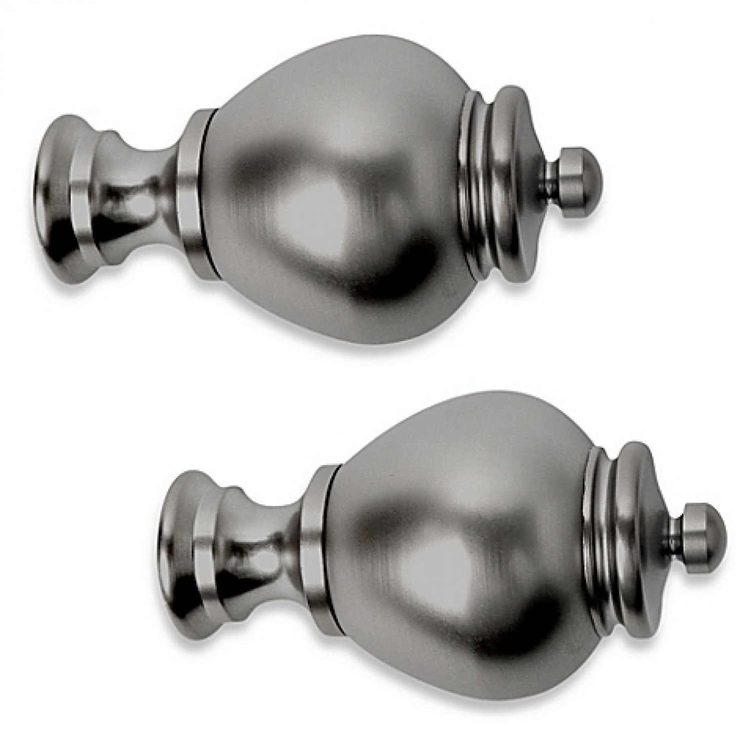 Cambria Premier Complete Apothecary Finial in Graphite (Set of 2)