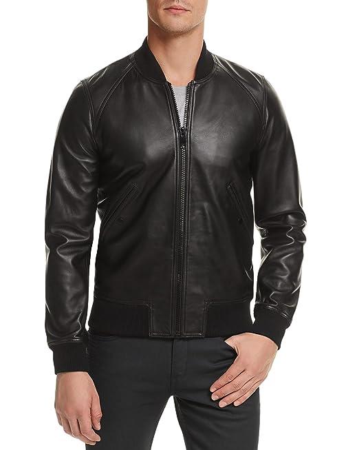 DashX Fire Mens Long Sleeve Full Zipper Leather Jacket ...