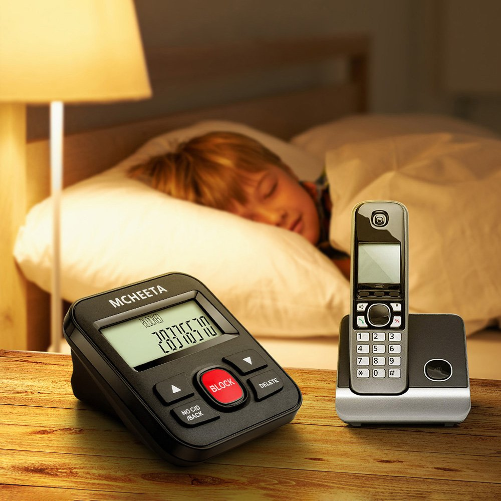 Call Blocker, MCHEETA Premium Phone Call Blocker Landline Device, Simply Block All Unwanted Calls, Robocalls, Incoming Calls and Nuisance Calls by Pressing One