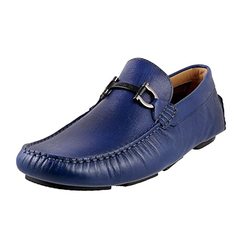 cd3435b1c41 Metro Men s Blue Leather Loafers-10 UK Inida(44 EU) (14-9501-45-44)  Buy  Online at Low Prices in India - Amazon.in
