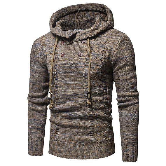 Suéter de Invierno de los Hombres de la Chaqueta de Punto con Capucha de Abrigo de Invierno Chaqueta Outwear por Internet: Amazon.es: Ropa y accesorios