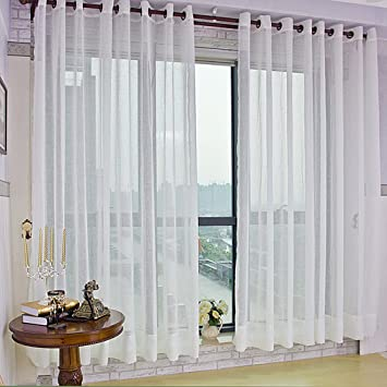 cortinas opacas con ojales x cm kinlo visillo con anillas para ventanas