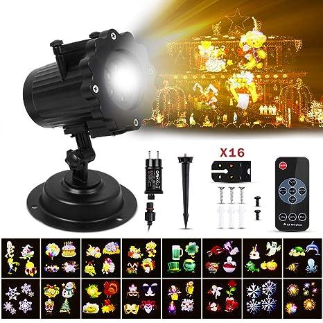 A ANGG Proyector Luces Navidad LED Luz de Proyección Paisaje ...