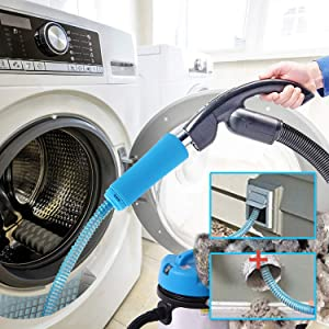 Xming Dryer Vent Cleaner Kit, Dry Vent Cleaning Kit, Vacuum Hose Attachment Brush Lint Remover Power Washer and Dryer Vent Vacuum Hose