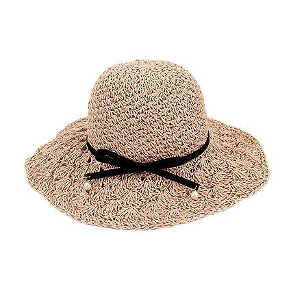 style limité grande sélection sur des pieds à Da.Wa Chapeau de Paille Femme Pliable Large Bord Ete Vintage ...