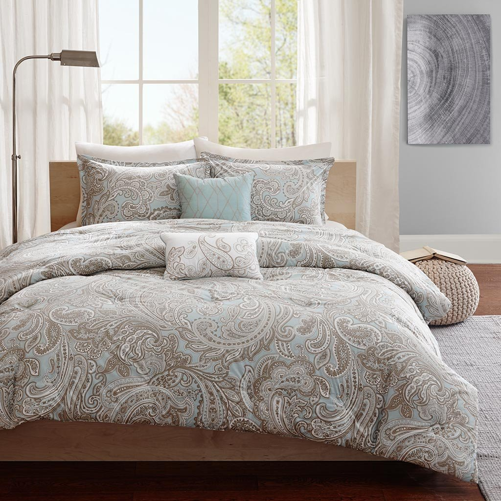 amazoncom madison park pure mpp  piece ronan cotton duvet  - amazoncom madison park pure mpp  piece ronan cotton duvet cover sethome  kitchen