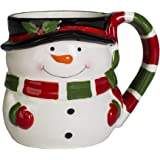 Snowman Holiday Character 12 ounce Ceramic Dolomite Christmas Coffee Mug